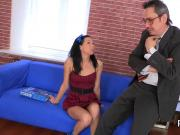Sensual schoolgirl gets tempted and poked by her older schoolteacher