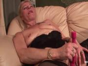 Mature in stockings using sex toys to fuck herself