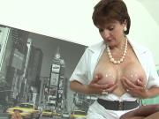 Unfaithful british milf lady sonia flaunts her huge titties