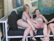 Horny lesbians pleasuring each others pussies