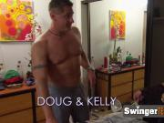Amateur swinger couple enjoy a naked game then to break ice