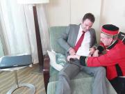 Bellboy swap blowjob and anal fuck guest so hard