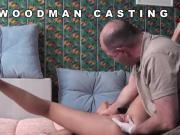 Casting centerfold walks off after hardcore sex and anal shagging