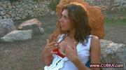 Hot Chick Naked Rubs Twat