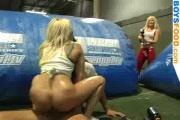 Blondes ride amateur
