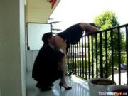 Wanton Gal Screwed From Behind Outside