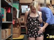 Innocent blonde Carmen gets fucked hard by investigator
