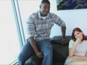 Big black cock drilled redhead
