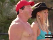 Trish and Jp join other couples to break the ice while playing tennis