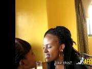 BBW ebony lesbians 69 dine on wet pussy