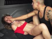 Rough slapping sex and bed spread bondage first time Poor Callie