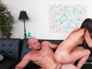 Huge cock guy bangs petite Latina dancer