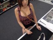 Brunette latina sucks pawnshop owners dick to get her item back