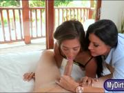 Stepmom India Summer nasty threesome scene in the bedroom
