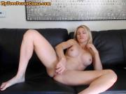 Busty Blonde Dirty Talk While Fucking Her Wet Pussy