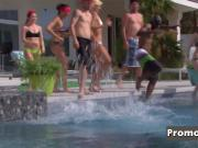 Poolside steams up when horny swingers get together to play
