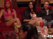 Swinger amateur guy has the fantasy to watch and being watched by his wife in the Red Room.
