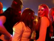 Flirty kittens get totally silly and naked at hardcore party