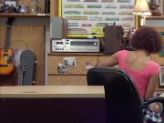 Sexy ebony babe gets fucked in the pawnshop to pay her electric bill