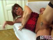 Granny Jana gets cunt stuffed by throbbing cock
