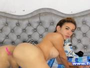 Beautiful Shemale Jerking All The Time And Makes Some Fun