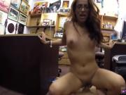 Amateur milf wife share dp College Student Banged in my pawn shop!