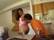 Horny Brunette Has Her Fuckholes Fucked By Two Bastards