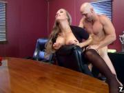 Boss sucking and fucking the rabble leader Johnny Sins