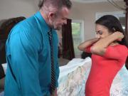 Nicole Bexley rides the hardest dad cock with her pussy