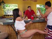 Latina Holly Hendrix outdoor anal fucking scene