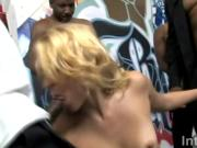 Hot blonde Katie Summers gets gang banged