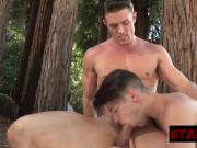 Horny hunks having themselves some hot outdoor sex