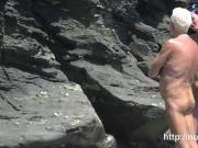 Nudist beach voyeur preys on naked young hotties