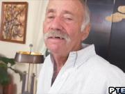 Old dudes banging lovely brunette babe