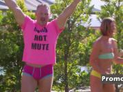 Hannah and JJ get down and dirty with other couples by the pool