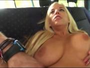 Huge juggs blond babe Blondie Feser gets fucked by stranger