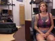 Busty white babe Harlow Harrison fucked in the pawnshop