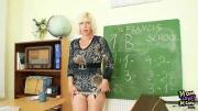 Mature School Teacher Pleasures Vagina After Class