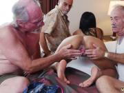 Old Chick And Teen Girl Staycation with a Latin Hottie
