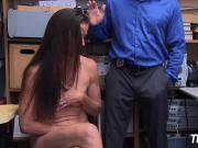Sofie's stripped and banged hard by horny officers big cock