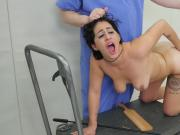 Kinky nympho was brought in butt hole loony bin for harsh treatment