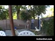Cute Indian With A Bush Jizzed In