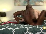 Black cock destroying tight ass