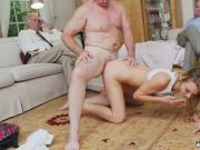 Old dudes young damsel orgy Molly Earns Her Keep