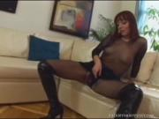 Sexy Redhead Babe Stuffs Hard Cock In Mouth Pussy