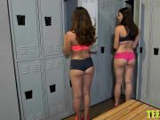 Kharlie and Kymberlee Anne smashed in the locker room