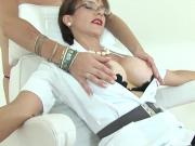 Unfaithful english mature lady sonia flashes her massive boobs