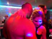 Flirty girls get fully wild and stripped at hardcore party