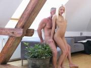 Luscious slender sweetie gets her wet slit and tiny anal hole plowed