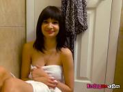 Horny Teen Jessi Grey Masturbates In The Shower